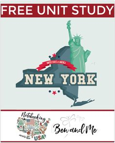 """FREE New York Unit Study for grades 3-8 -- learn about the """"Empire State"""" in this 10th installment of Notebooking Across the USA."""