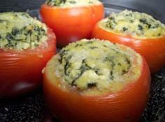 Cheesy Spinach Stuffed Tomatoes Recipe