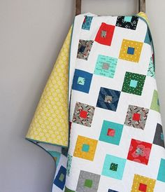 Link to cute baby quilt pattern. Precut friendly. 2 1/2 in strips.