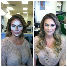 Contouring....I like the really dramatic tips. They help more. :)