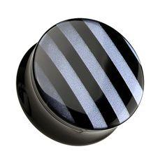 Marbled Stripe Double Flared Ear Gauge Plug