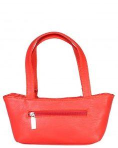 Red Color Plain Pu Hand Bag