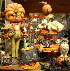 Vintage styled Halloween Decor! Featuring Rucus studios, Kim Kohler and Bruce Elsass designs!