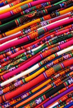"""Peruvian Colors"".  Textiles photographed in Lima, Peru 
