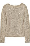 OSCAR DE LA RENTA  Sequined silk and cotton-blend sweater