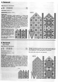 Scandinavian knit mittens  skandinaviskt färgstickning mönsterstickning vantar