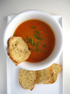 Lottie + Doof » Best Tomato Soup - Made without the cream and did not miss it, was so good and fresh.