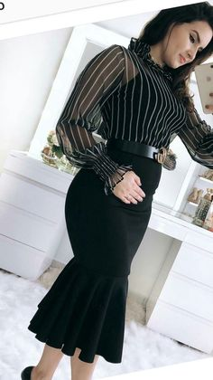 Fashion Wear Hijab Fashion Curvy Fashion Modest Fashion Fashion Shoes Clothes 2019 Blouse And Skirt Church Outfits Business Attire Modest Fashion, Hijab Fashion, Fashion Dresses, Fashion Muslimah, Jeans Fashion, Skirt Outfits, Dress Skirt, Cute Outfits, Fishtail Dress