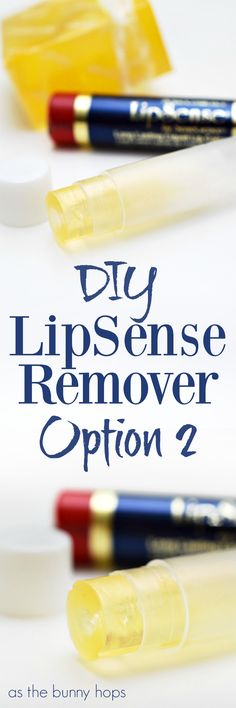 Here's another way to make your own DIY LipSense remover that's perfect for travel! This version is great for making multiples if you want to give them as gifts.