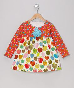 Take a look at this Red Crazy Apple Lettuce Swing Dress - Toddler & Girls by SILLY MILLY on #zulily today!