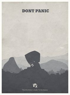 The Hitchhiker's Guide to the Galaxy - minimal poster Art Print - Dad