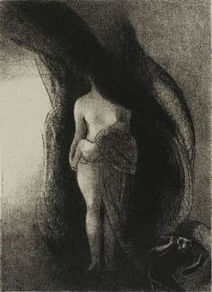 Odilon Redon - I am Still the Great Isis! Nobody Has Ever Yet Lifted My Veil!, plate 16 of 24, 1896, Lithograph | The Art Institute of Chicago