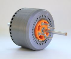 This is a very powerful, 3d-printed brushless DC electric motor. It has 600 Watts, and performs with more than 80% efficiency. The main components like rotor and stator can be printed with a common FDM-printer. Magnets, copper wire, and ball-bearings are ordinary components. The magnets of the rotor are arranged as Halbach Array. The motor runs with a standard ESC widely used in different RC-applications (plane, drone, car).Max. power (tested) 600 W Nominal Voltage 30 V Nominal Current 20 A…