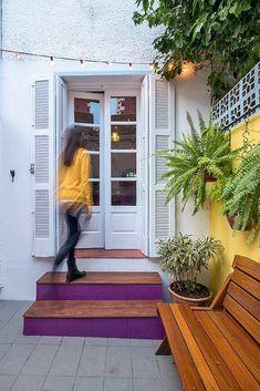 Quintal de imóvel alugado se transforma com tinta e muito verde   Minha Casa