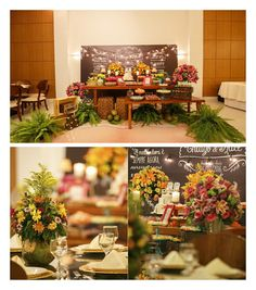 """UM CHÁ BAR criativo e lindo no blog!❤️ O tema foi """"Luau Thiago & Alice"""" e foi realmente uma graça! Decoração impecável e criativa! Amamos o backdrop com o nome do casal, data do casamento e frases de amor no estilo """"quadro negro"""". Os centros de mesa de coco verde ficaram incríveis e o bolo um charme só! Muita inspiração para as noivinhas de plantão. {Foto: @estudiolumi} #amolapisdenoiva #chabar #chadepanela"""