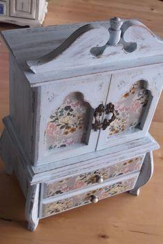 Ring storage jewellery storage cherry blossom hand painted Upcycled jewellery box treasure box