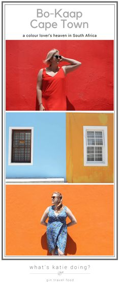 Bo-Kaap, Cape Town, a colour lover's heaven on What's Katie Doing? blog get inspired to visit this Cape Town neighbourhood full of color #color #capetown #southafrica