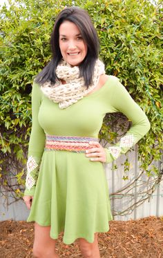 We love seeing, Judith March Founder Stephanie Carter, rock her favorite Judith March Fall styles to work. Here is how she styled our green thermal dress! Available NOW!  www.JUDITHMARCH.com