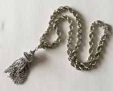 Silver tone rope chain with fancy pendant necklace, signed MONET Lot 173A