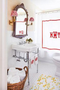 26 top monogrammed shower curtains images garden bathroom rh pinterest com