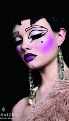 Love the cartoon aspect Alex Box makeup