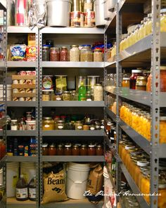 A Well Stocked Pantry      http://theprudenthomemaker.com/index.php/about/living-on-food-storage