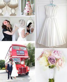 50's Style Wedding blog.  Love the dress.