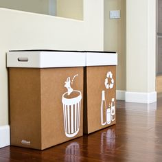 Hobnob Pop-up Party Bins - Trash and Recycle Bin Set. $20.00, via Etsy.