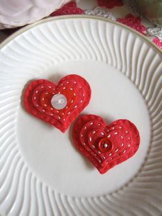 RED HEART VALENTINE, hair accessory.  Stick on with Girlie Glue!  girlieglue.com