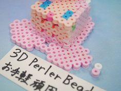 2017_1103_150637p1170714 3d Perler Bead, Perler Beads, Paper, Desserts, Food, Projects, Tailgate Desserts, Postres, Deserts