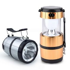 Sale 10% (5.99$) - Retractable Camping Tent Solar Lantern Outdoor Portable Emergency LED Light Lamp