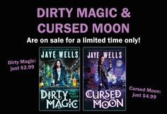 """The first two books in Jaye Wells' """"grim and gritty and completely fascinating""""* magical crime fiction series are on sale! First Second, Crime Fiction, Wells, Magic, War, Urban, Journal, Fantasy, Books"""