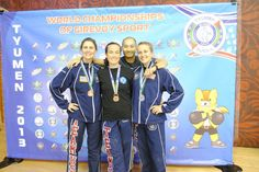 ICKB Team proudly displaying their Silver and Bronze medals at the 2013 World Championship in Tyumen, Russia on November 21, 2013.