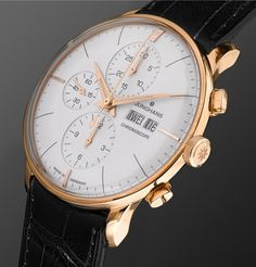 JunghansMeister Chronoscope Gold-Tone and Alligator Watch