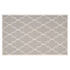 Safavieh Dhurries Quatrefoil Handwoven Flatweave Wool Rug, Dark Grey