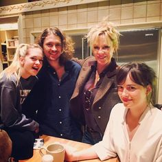 Family photo: The actress also shared a snapshot with Stella, son Alexander Bauer and daug...