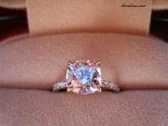 #wedding #ring - pretty pink stone http://www.weddingsknowhow.com/