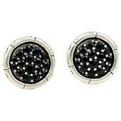 John Hardy Kali Pure Lavafire Black Sapphire Stud Earrings 7zHEnTd