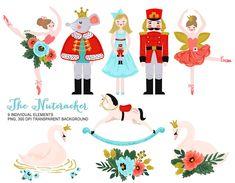 Nutcracker Clip Art - Personal and Commercial use, Nutcracker Clipart, Vintage Toy Christmas Ballet Watercolor Clipart, Swan Graphic Nutcracker Image, Nutcracker Christmas, Nutcracker Crafts, Nutcracker Ornaments, Nutcracker Soldier, Ballet Illustration, Graphic Illustration, Toys Logo, Image Clipart