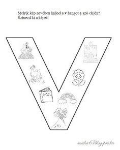 Játékos tanulás és kreativitás: Kisbetűkben képek a hangfelismerés gyakorlásához Dysgraphia, Learning Methods, Teaching Kids, Worksheets, Letters, School, Therapy, Facebook, Books