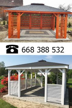 Wooden Summer House, Home Temple, Backyard Gazebo, Inspirational Quotes Pictures, Interior Exterior, Outdoor Living, House Plans, Home And Garden, Outdoor Structures