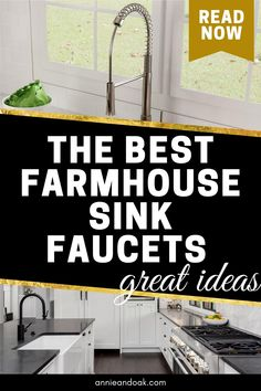 Best Kitchen Faucets, Best Faucet, Fireclay Farmhouse Sink, Farmhouse Sink Kitchen, Honeycomb Tile, Design Your Kitchen, Butcher Block Countertops, Kitchen Styling, Kitchen Ideas