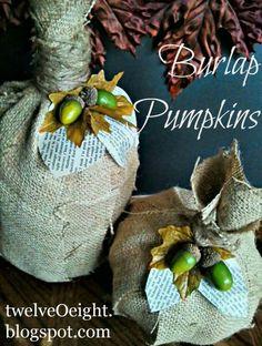 10 DIY Burlap Fall Decorations