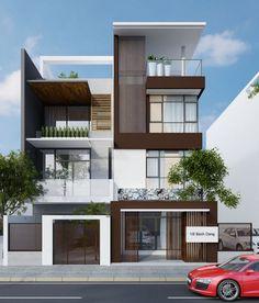kiến trúc mặt tiền nhà phố đẹp