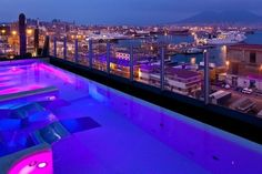 Collection on View of Mt Vesuvius from Rooftop Pool at Romeo Hotel in Naples, ItalyView of Mt Vesuvius from Rooftop Pool at Romeo Hotel in Naples, Italy Top Hotels, Hotels And Resorts, Best Hotels, Amazing Hotels, Pool At Night, Italian Romance, Rooftop Pool, Italy Tours, Naples Italy