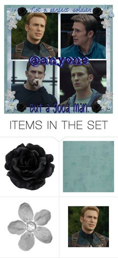 """Captain America Open Icon"" by ymccurdy ❤ liked on Polyvore featuring art"