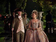 "Tom Felton as ""Lord Ashford"" and Sarah Gadon as ""Elizabeth"" in Amma Asante's BELLE"