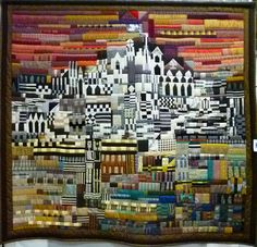 Torrid Dwelling by Molly Upton.  Photo by Zippy Quilts.  2014 Vermont Quilt Festival.
