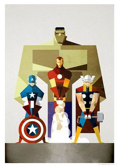 #Avengers #Fan #Art. (The Avengers) By: Ricardo Polo. (THE * 5 * STÅR * ÅWARD * OF: * AW YEAH, IT'S MAJOR ÅWESOMENESS!!!™) ÅÅÅ+