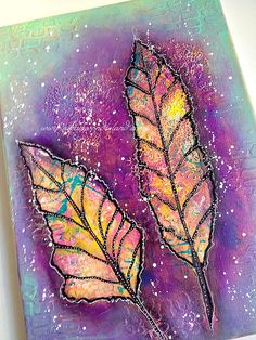 Feather Canvas Original Mixed Media Painting by NikaInWonderland